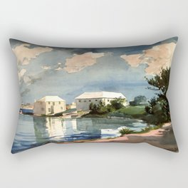 Salt Kettle Bermuda 1899 By WinslowHomer | Reproduction Rectangular Pillow