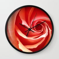 aperture Wall Clocks featuring Rose Aperture by Lita Mikrut