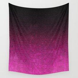 Pink & Black Glitter Gradient Wall Tapestry