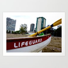 Save Me - English Bay Lifeguard Post Art Print