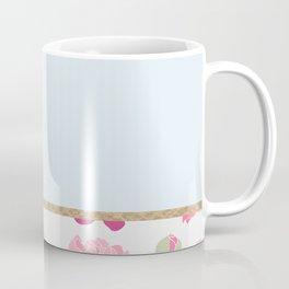 Duck egg blue peony Coffee Mug