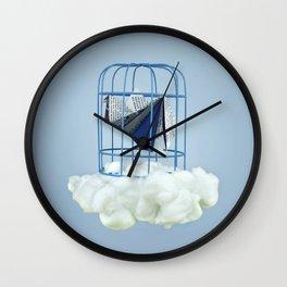 Cloud under prisoner bird Wall Clock
