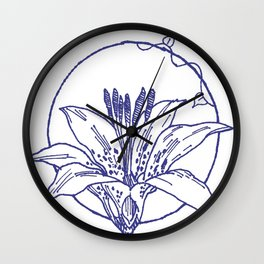 Forest Lover's Wild Flower Wall Clock