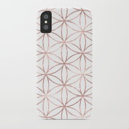 Mandala Rose Gold Flower of Life iPhone Case