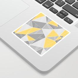Pattern, grey - yellow Sticker