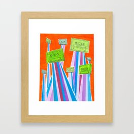 and then one day they left.. Framed Art Print