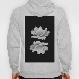 White Rose On Black Hoody