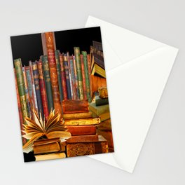 SHABBY CHIC ANTIQUE LIBRARY BOOKS, LEDGERS &  BOOKS Stationery Cards