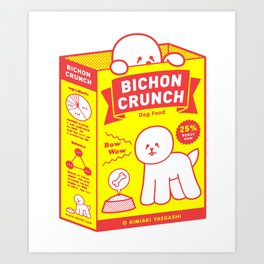 BICHON CRUNCH Art Print