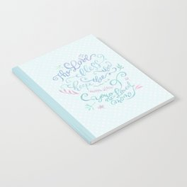 You Are Loved Mom - Number 6:24 - Polka dots Notebook