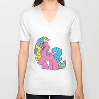 my little pony V-neck T-shirts featuring My Little Bowie Pony by Melina Espinoza