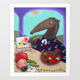 Anteater Artist Abstracting Ants Art Print