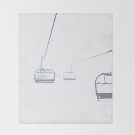 B&W Skilift Poster Throw Blanket