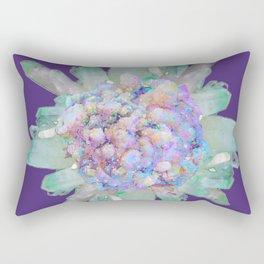 SPARKLING GREEN & PURPLE QUARTZ CRYSTALS PURPLE ART Rectangular Pillow