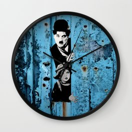 Chaplin and the kid - Urban ART Wall Clock