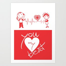 Lab No. 4 - December Gift for your love special quotes poster Art Print