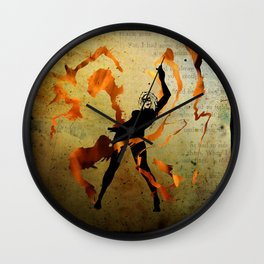 flame dancer Wall Clock