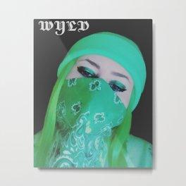 WYLD SELFIE Metal Print