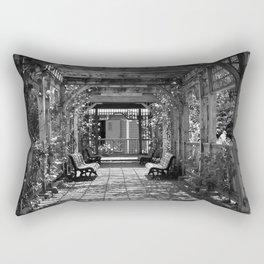 Garden Trellis- Black and White Rectangular Pillow