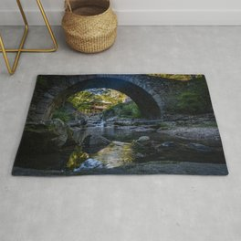 Stone-Arched Bridge and Tower Rug