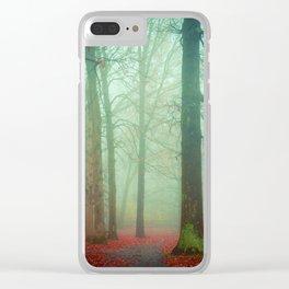 Autumn Wanderlust Clear iPhone Case