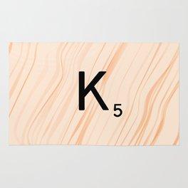 Scrabble Letter K - Large Scrabble Tiles Rug