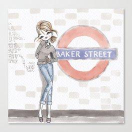 Woman at Baker Street Canvas Print