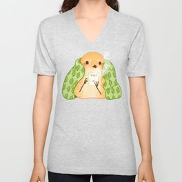 Cozy Canaries- Cocoa Canary  Unisex V-Neck