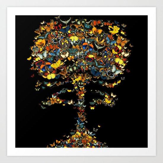 Atomic Butterfly Art Print