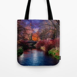 Concept Baden-Wuerttemberg : River Rottum through Laupheim Tote Bag