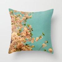 neon Throw Pillows featuring Neon by Alicia Bock