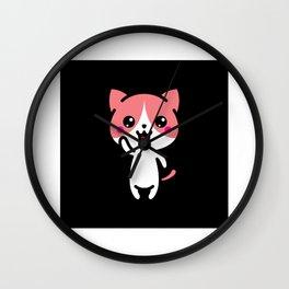 Kawaii Lucky Charm Talisman Gift Idea Design Wall Clock
