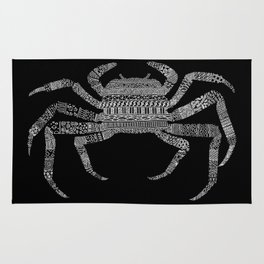 Crab (On Black) Rug