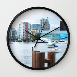 364. Creekside Viewpoint with birds, Vancouver, Canada Wall Clock