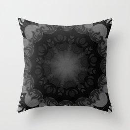 Dark Mandala #1 Throw Pillow