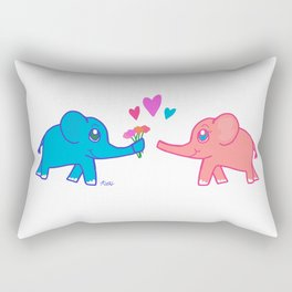 elephants in love Rectangular Pillow