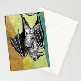 Bat mother and baby Stationery Cards