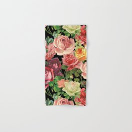 Vintage & Shabby chic - floral roses flowers rose Hand & Bath Towel