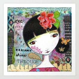 Let Your Inner Radiance Shine Through Art Print