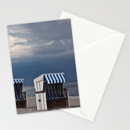 evening at the beach in boltenhagen Stationery Cards
