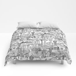 Seattle black white Comforters