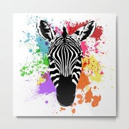 Spectrum Stripes Metal Print