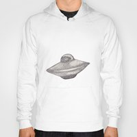 ufo Hoodies featuring UFO by nach-o-kid