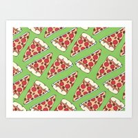 Meaty Pizza Party Art Print