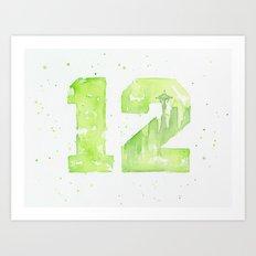 12th Man Seattle Art Art Print