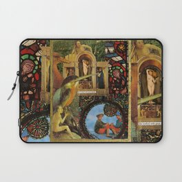 She walked with great dignity, collage.  Laptop Sleeve