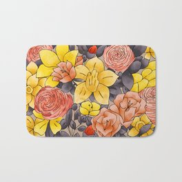 Random Flowers Bath Mat