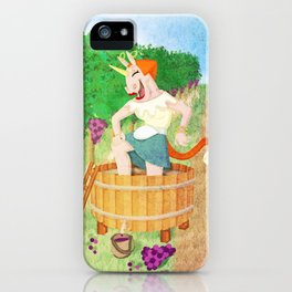 Grape Stomping Unicorn iPhone Case