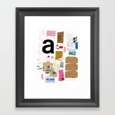 Paper Trail I  Framed Art Print