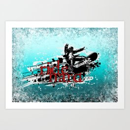 ride hard - snow Art Print